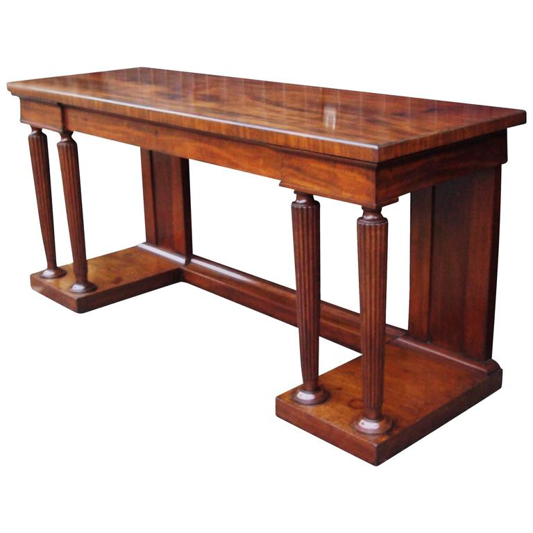 Regency Mahogany Neoclassical Side Table or Serving Table