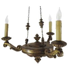French Empire Giltwood Chandelier