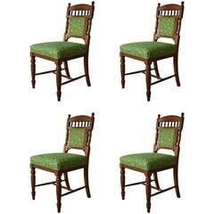 Set of Four Antique Aesthetic Style Chairs, English, circa 1900