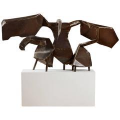 Swans, Big Sculpture by British Artist Joan Moore, 1960s