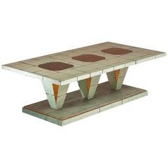 American Coffee Table in Crackleware Finish, circa 1940-1950