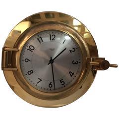 Clock Signed Hermès Paris 1960 Named Sabord