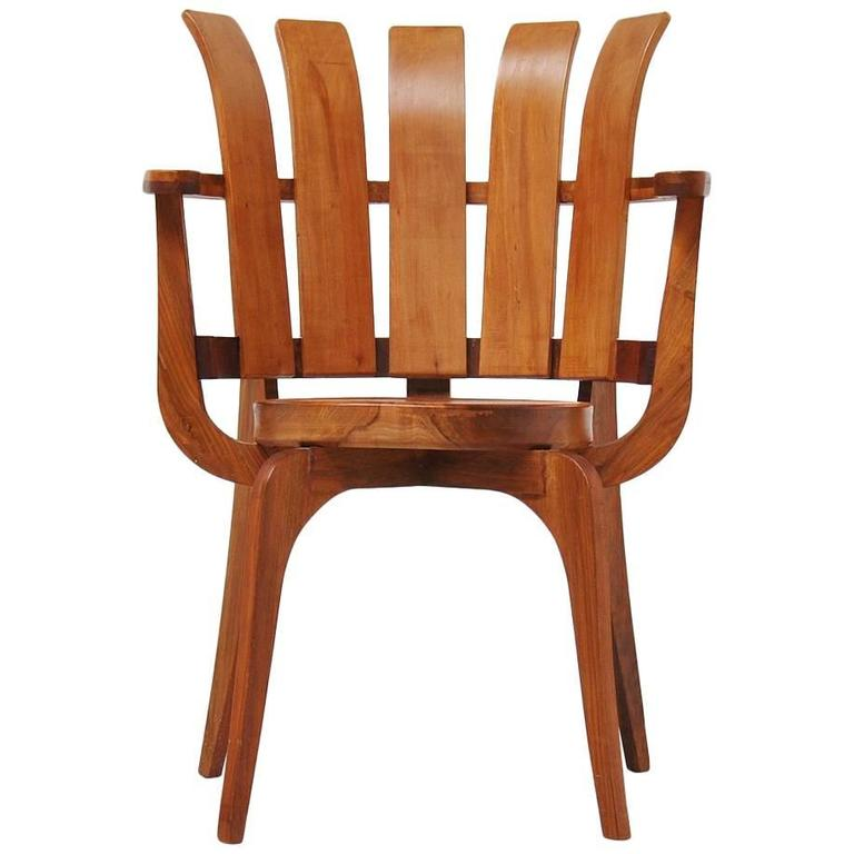 Brazillian Side Chair in Walnut, 1960