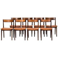 Henry Rosengren Hansen Dining Chairs Model 39 by Brande Møbelfabrik in Denmark