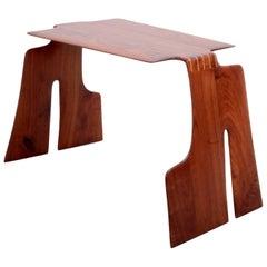 Robert A. Schultz Studio Side Table in Solid Walnut