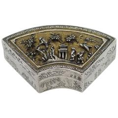 Antique 18th Century Rare Chinese Kangxi Solid Silver-Gilt Box, circa 1700