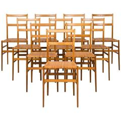 Gio Ponti Superleggera Dining Chairs by Cassina in Italy