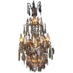 Huge 19th Century Crystal Chandelier