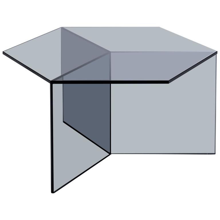 Isom Square Black Side Table by Sebastian Scherer for Neo Craft, Made in Germany