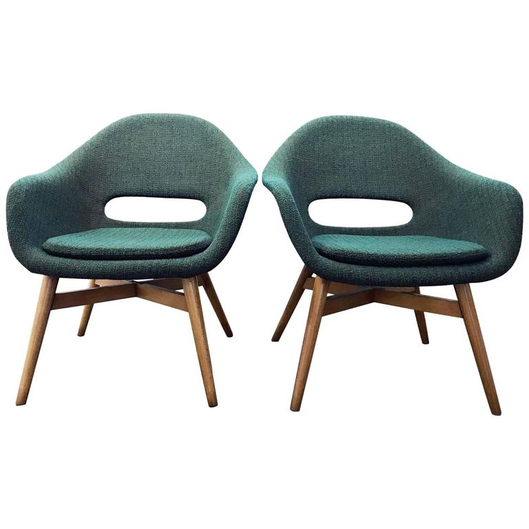 Pair of Easy Chairs by Navratil 1