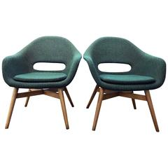 Pair of Easy Chairs by Navratil