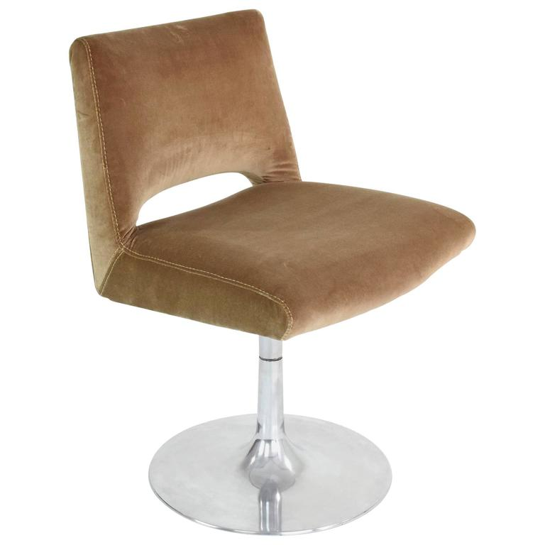 1970s aluminium velvet tulip chair france for sale at 1stdibs - Tulip chairs for sale ...