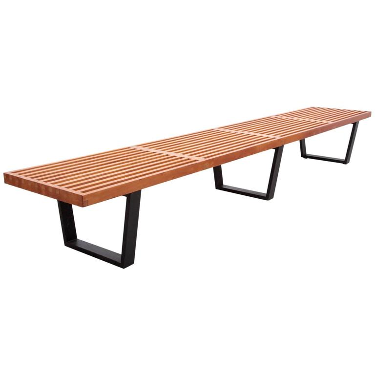 Largest George Nelson Slat Bench for Herman Miller