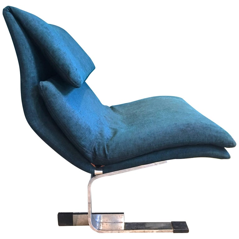 Reupholstered Onda Lounge Chair by Giovanni Offredi for Saporiti, Italy, 1970s For Sale