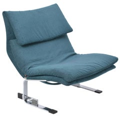 Reupholstered Post Modern Onda lounge chair by Giovanni Offredi for Saporiti