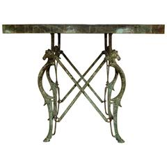 19th Century Bronze Etruscan Style Campaign Table, circa 1896