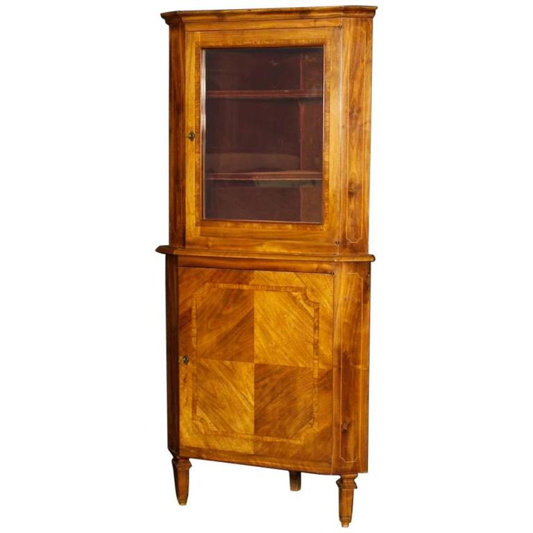 20th Century Italian Corner Cupboard in Louis XVI Style