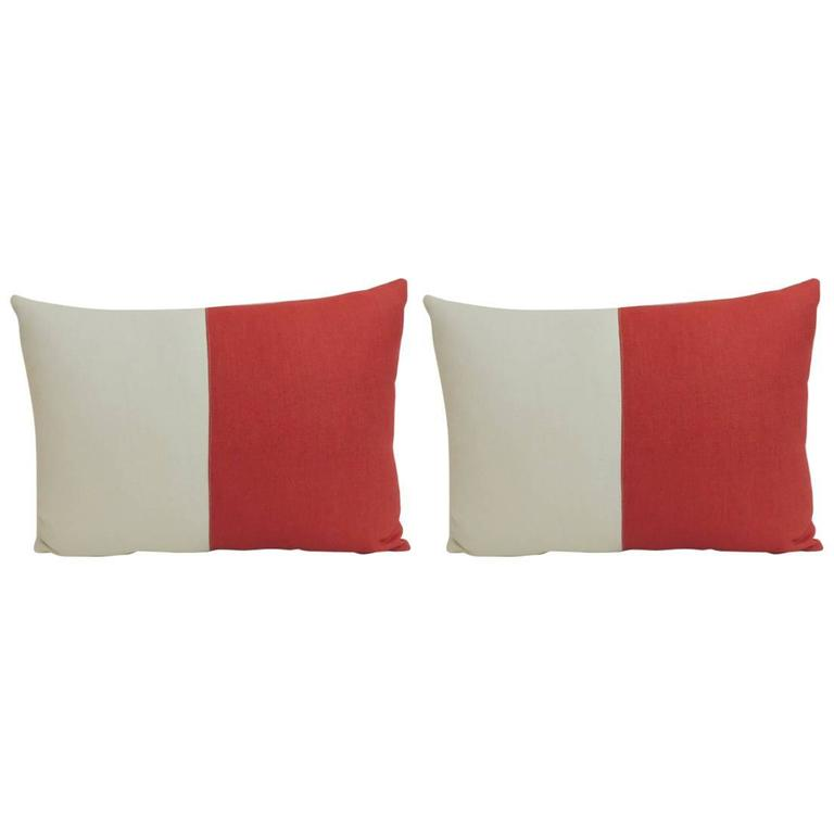 Pair of antique textiles galleries nautical collection for Hotel pillows for sale philippines