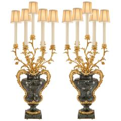 Pair of French Mid-19th Century Louis XVI Style Electrified Candelabras