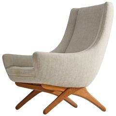 Illum Wikkelsø Lounge Chair in Oak, 1960s