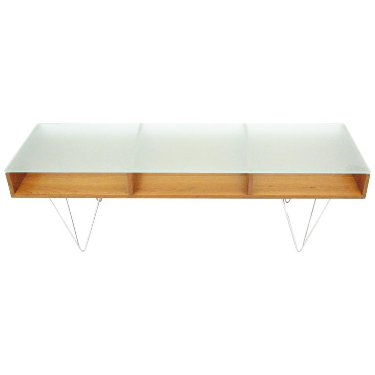 Glass Top Cocktail Table by Bobo Modern Living For Sale