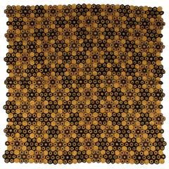 Art Deco Style Crocheted Medallion Blanket Throw 06 Mustard and Autumnal Tones