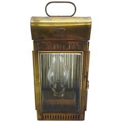 Davey & Co. Brass Kerosene Lantern