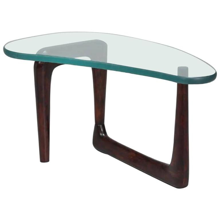 "1950s, Italian Coffee Table in Style of Fontana Arte, Amazing 1"" Thick Glass Top"