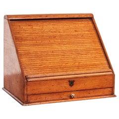 Unusual Oak Stationery Cabinet