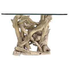 Mid-Century Driftwood End Table