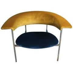 Reupholstered Dutch Rudolf Wolf Meander Gamma Chair Produced in 1962