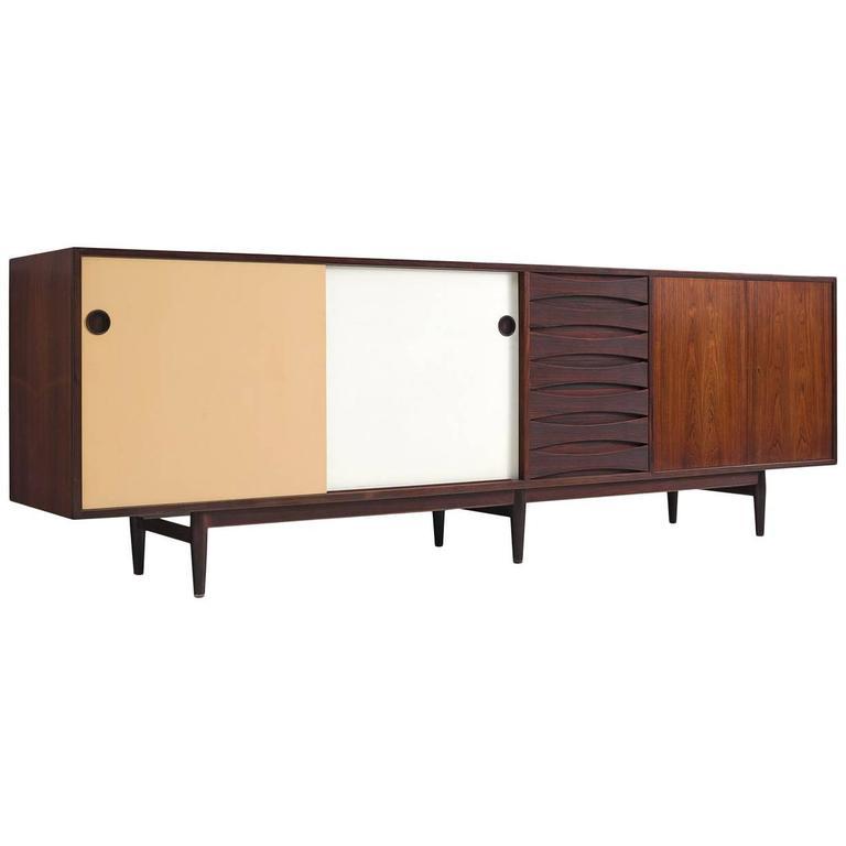 arne vodder sideboard model 29a in rosewood with reversible doors for sale at 1stdibs. Black Bedroom Furniture Sets. Home Design Ideas