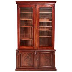 Large Quality Victorian Mahogany Bookcase