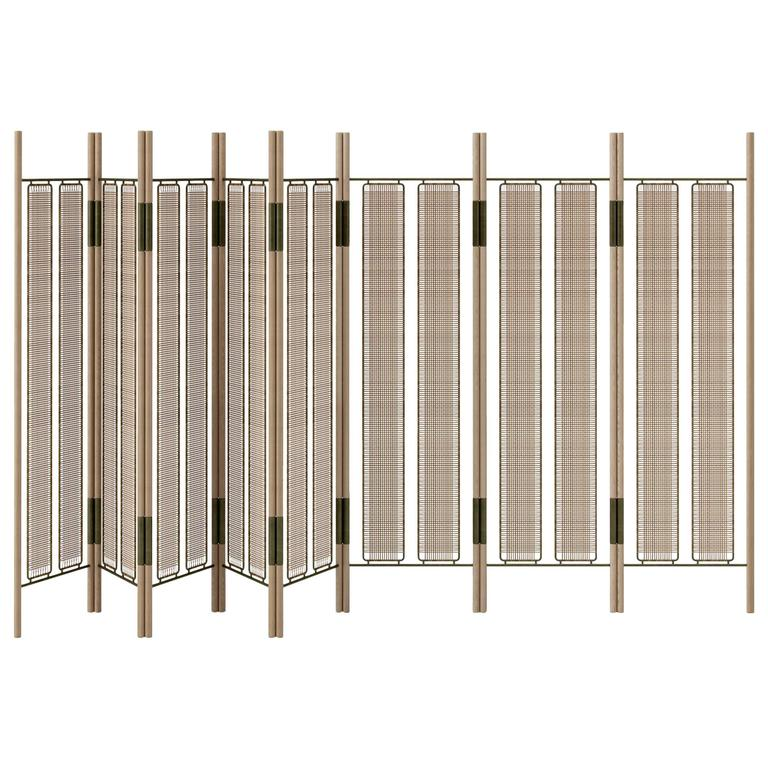CA8P Contemporary Handcrafted 8-Panel Modern Folding Screen or Room Divider