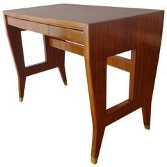 Mahogany Desk, 1955 by Gio Ponti, Italy