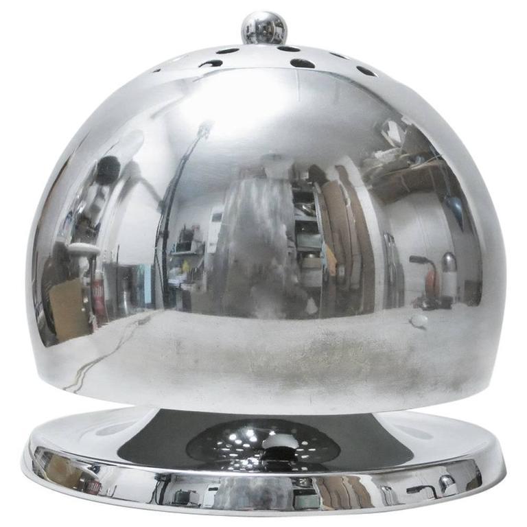 Italian Mid-Century Modern Chrome Lamp