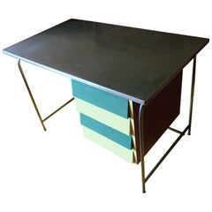 Colorful Italian Tubular Steel and Formica Desk, 1950s-1960s