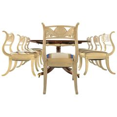 Eight Regency Dining Chairs