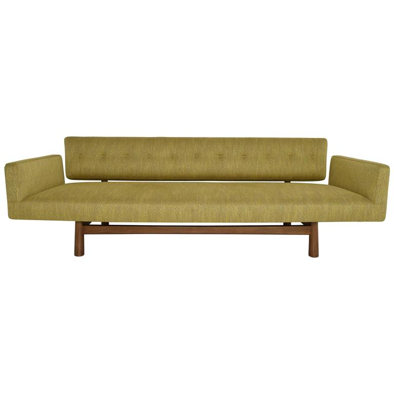 Gorgeous Gondola Bracket Back Sofa by Edward Wormley for Dunbar 1