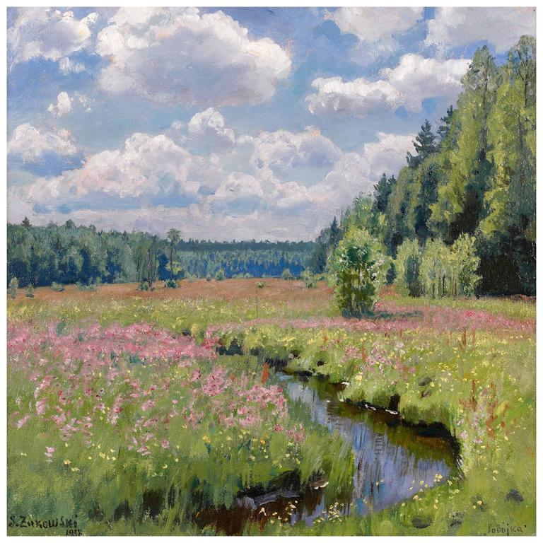 Summer Meadow In Pobojka By Stanislav Yulianovich