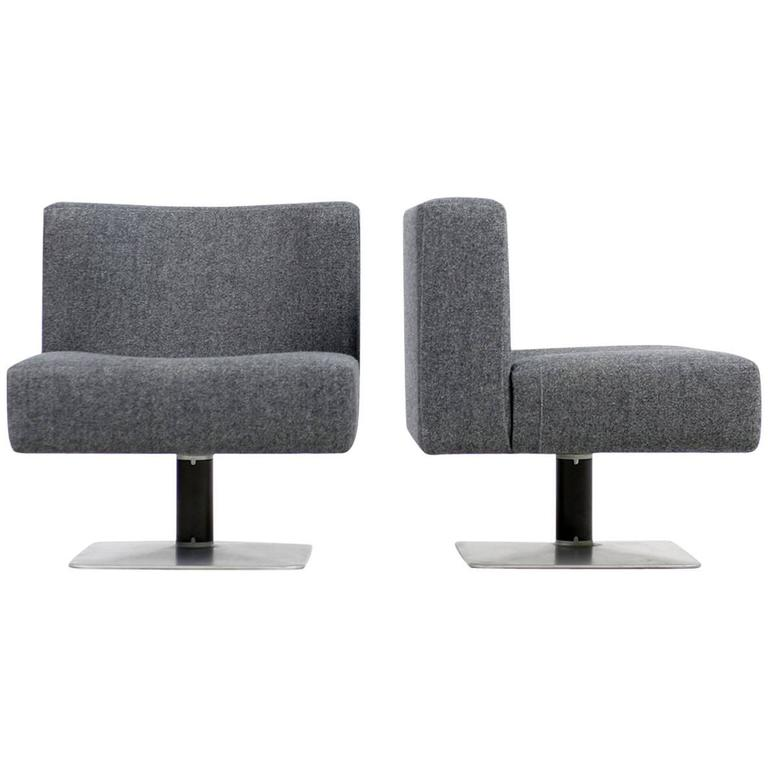 pair of 1970s modular lounge chairs herbert hirche for. Black Bedroom Furniture Sets. Home Design Ideas