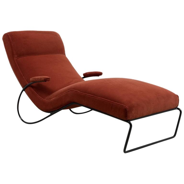 Vintage 1950s chaise longue for sale at 1stdibs for Antique chaise longue for sale