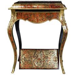French 19th Century Naploeon III Boulle Marquetry Freestanding Jardiniere Table
