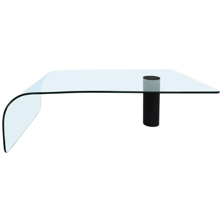 Modern Bent Glass Waterfall Coffee Table 1