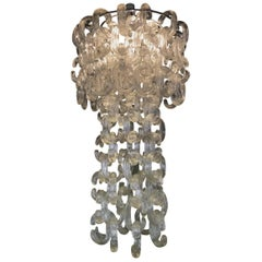 Mid-Century Modern Chandelier by Fratelli Toso, Designed by Giusto Toso, 1968