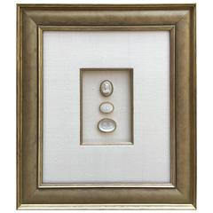 Framed Intaglio's Mounted on Silk
