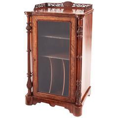 Good Quality Victorian Inlaid Burr Walnut Music Cabinet
