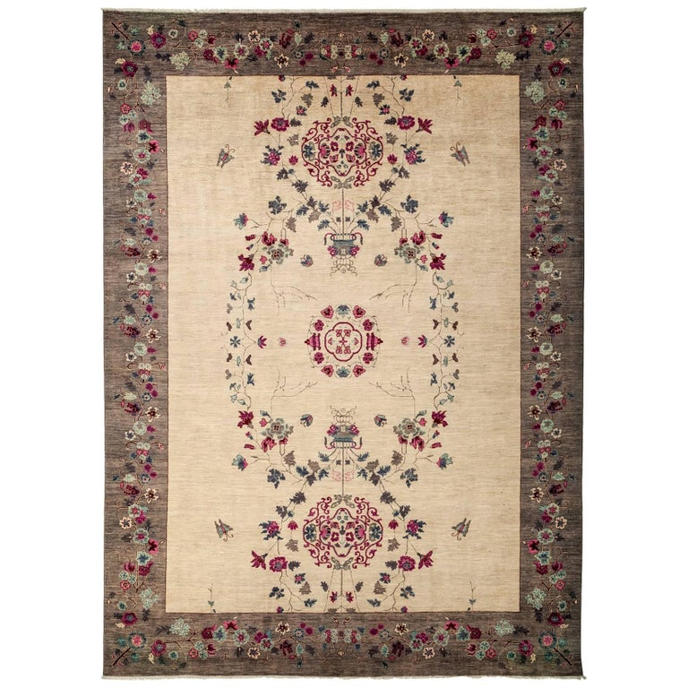 Ivory Suzani Area Rug For Sale