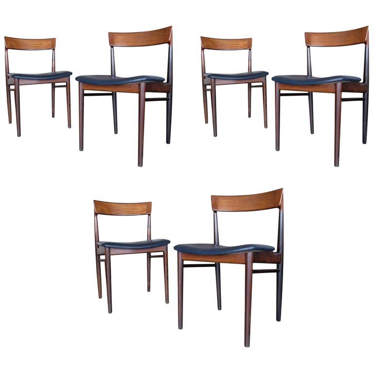 "Set of Six ""Model 39"" Dining Chairs, Designed by Henry Rosengren Hansen, 1960s"