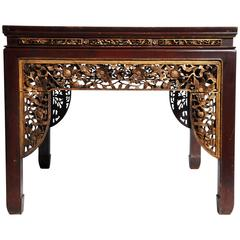 Chinese Hand-Carved Square Table